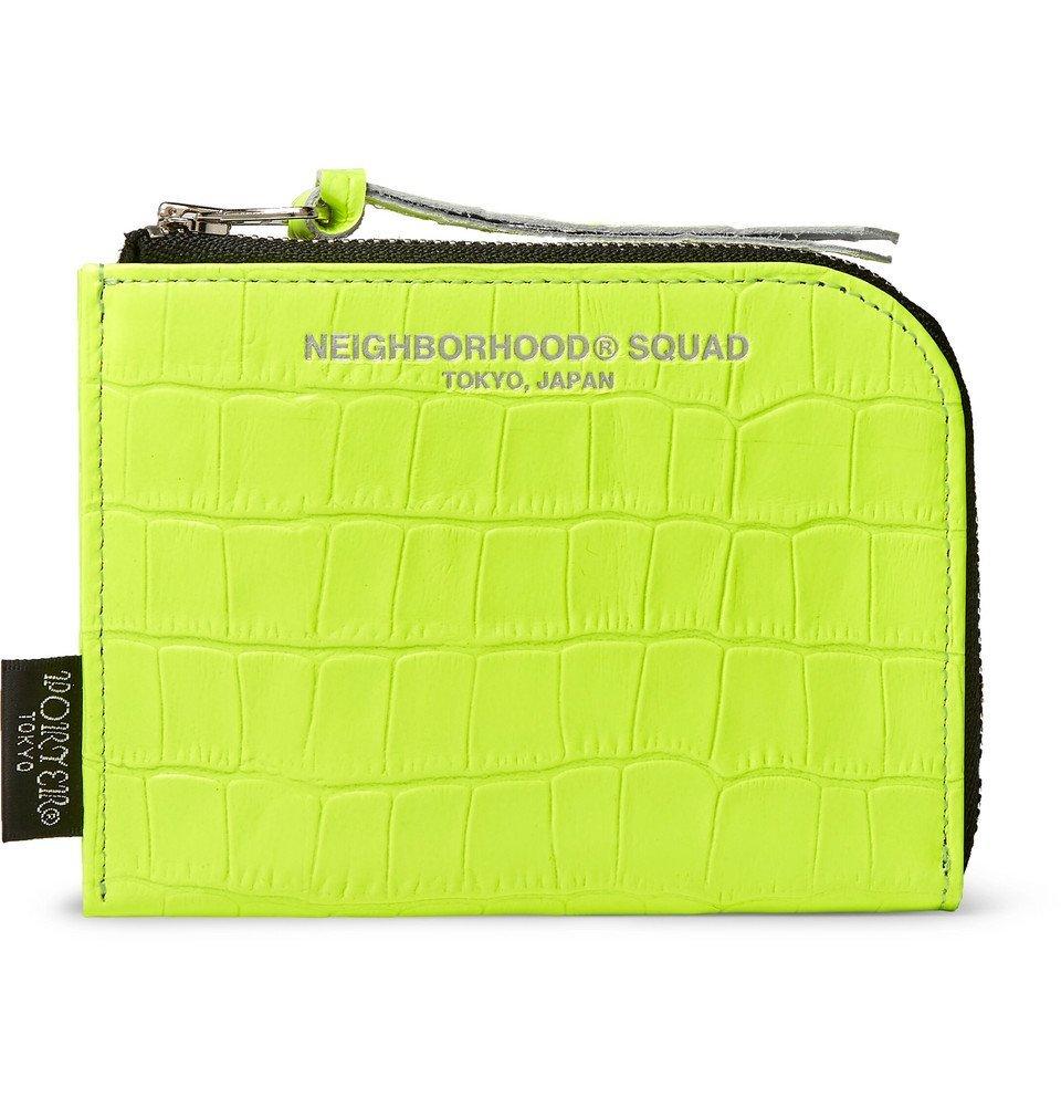 Photo: Neighborhood - Porter-Yoshida and Co Croc-Effect Leather Zip-Around Wallet - Yellow