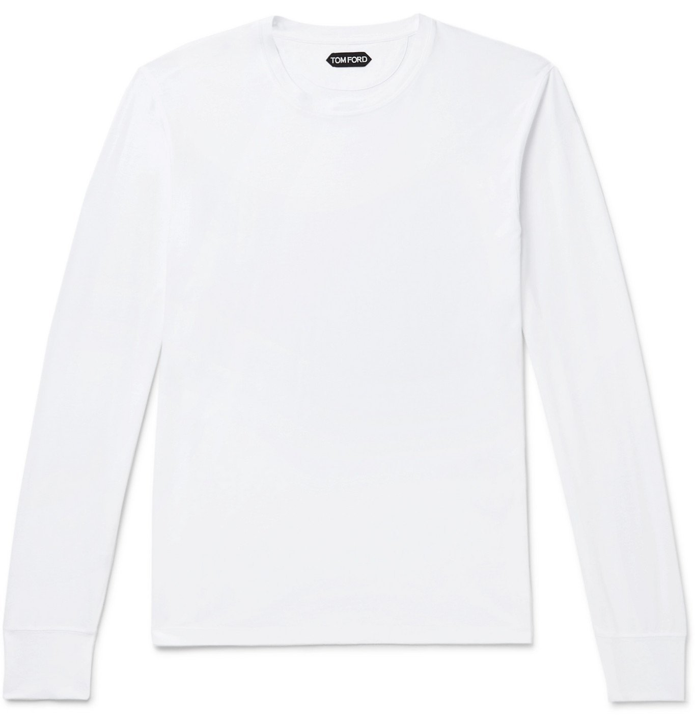 Photo: TOM FORD - Lyocell and Cotton-Blend T-Shirt - White