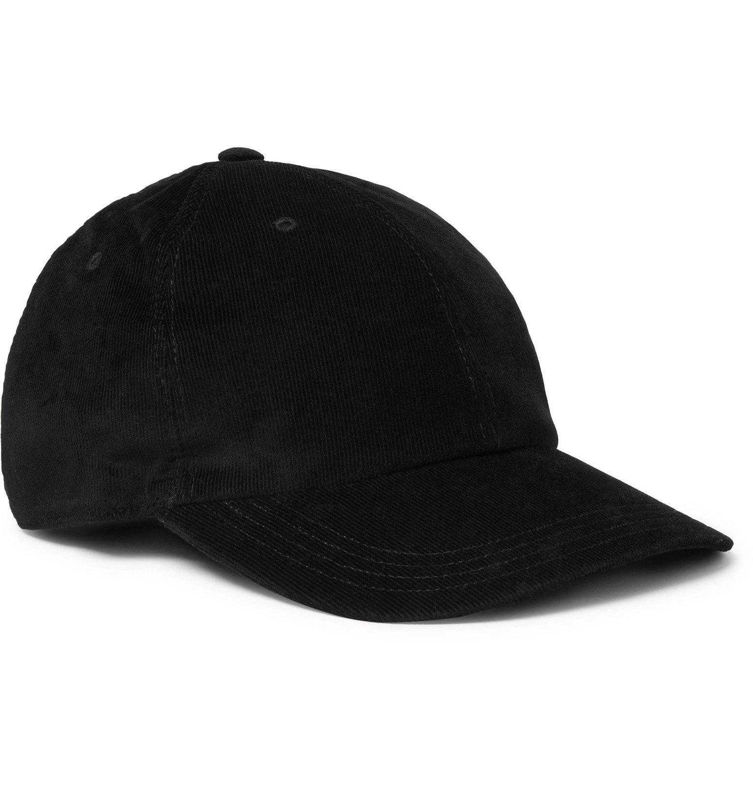 Photo: SAINT LAURENT - Cotton-Corduroy Baseball Cap - Black