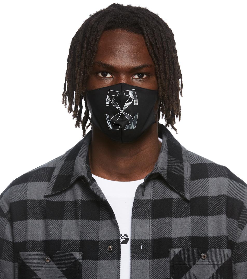 Photo: Off-White Black & Grey Caravaggio Arrow Simple Mask