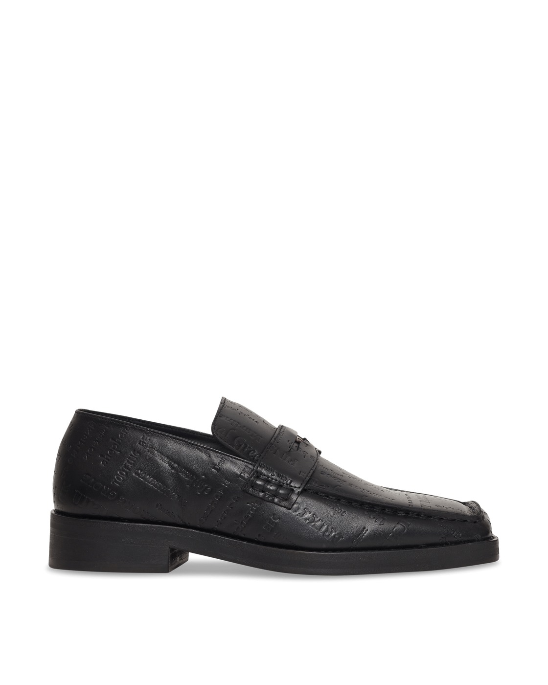 Martine Rose Roxy Embossed Leather Loafers Black/Black