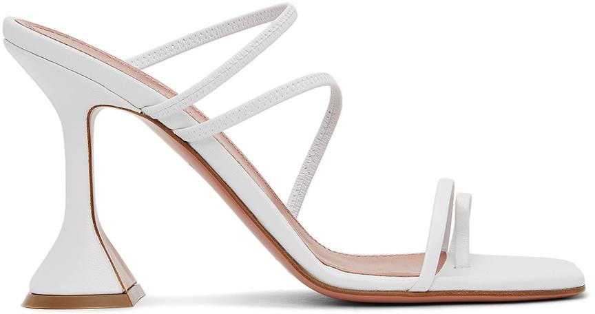 Photo: Amina Muaddi White Naima Heeled Sandals