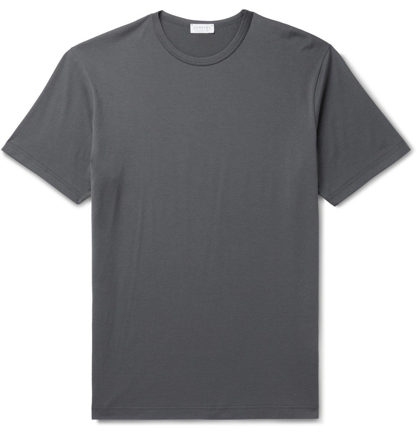 Sunspel - Pima Cotton-Jersey T-Shirt - Gray