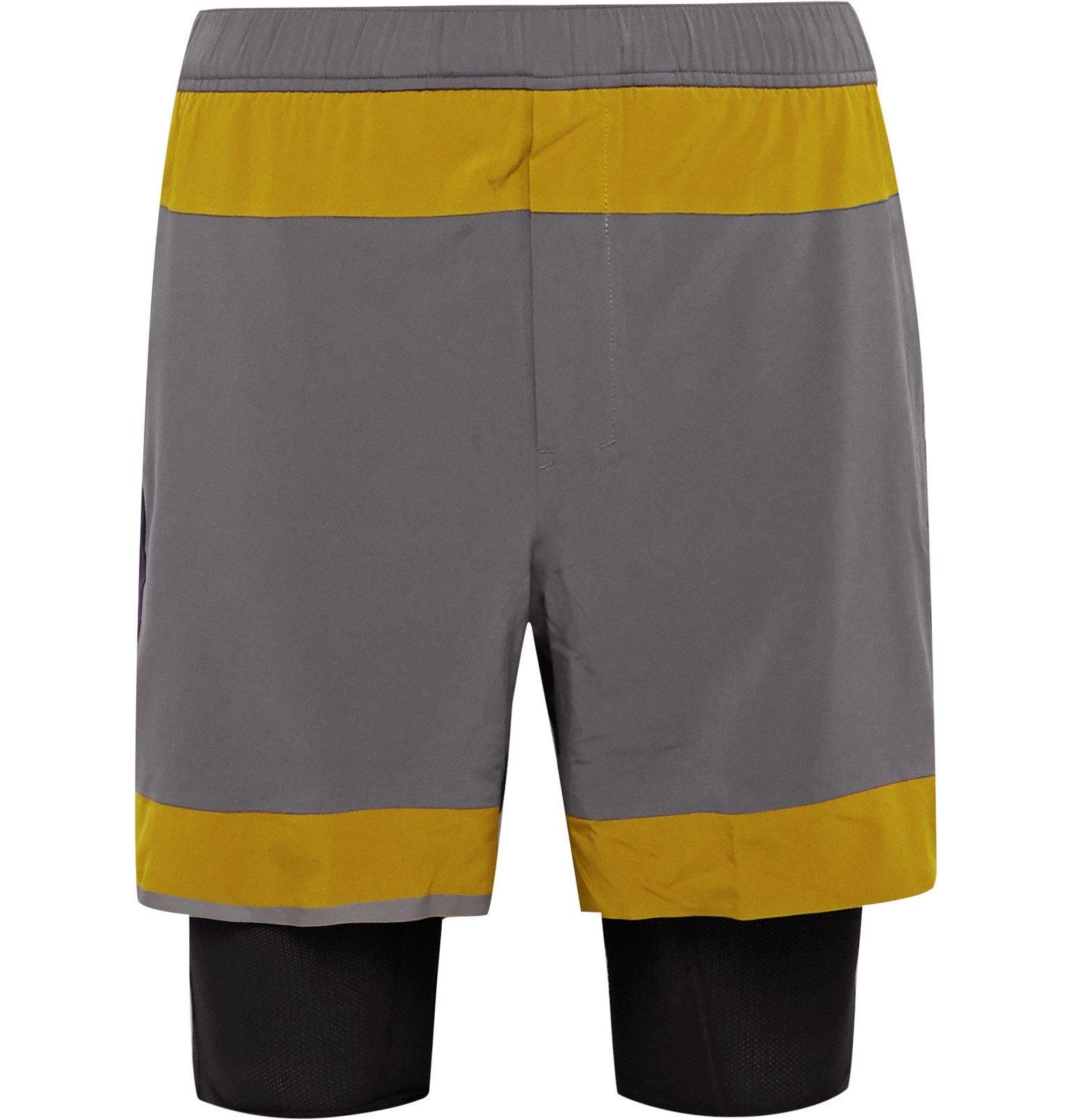 Photo: Lululemon - Robert Geller Take the Moment Colour-Block Swift Shorts - Gray
