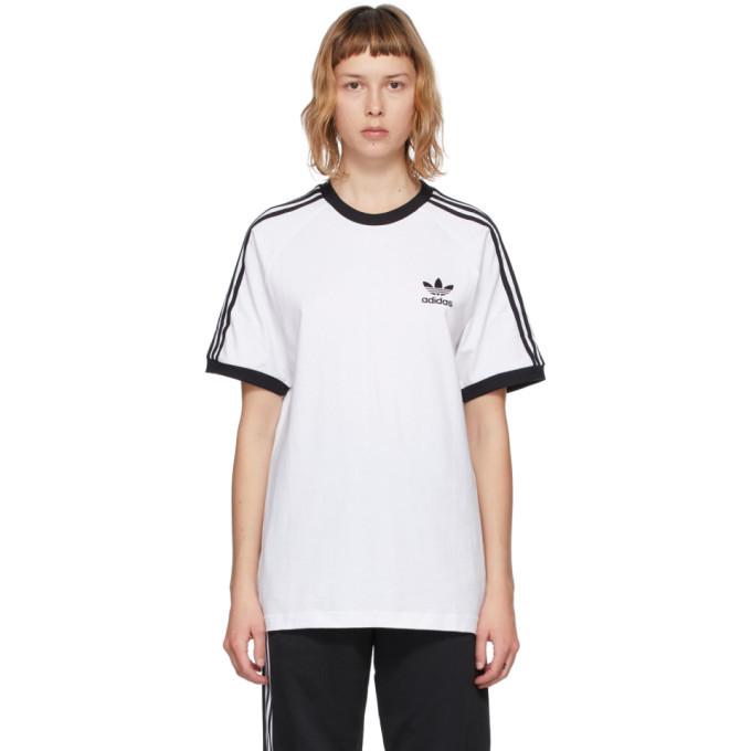 adidas Originals White Adicolor Classics 3-Stripe T-Shirt