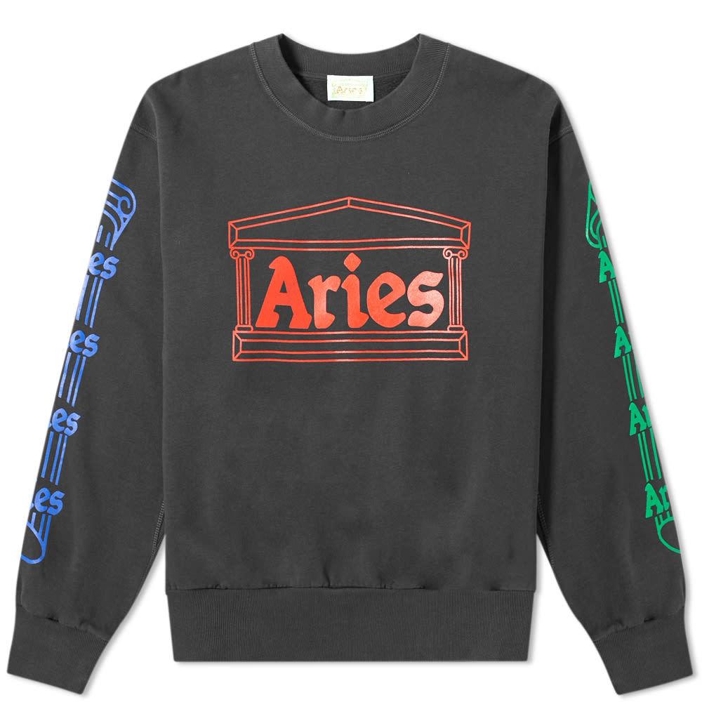 Aries Column Crew Sweat Grey & Multi