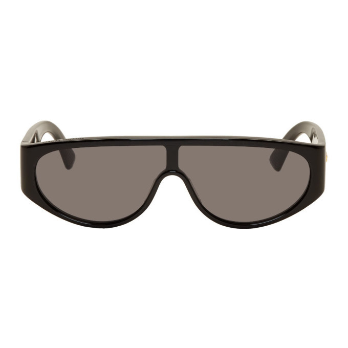 Photo: Bottega Veneta Black Mask Sunglasses