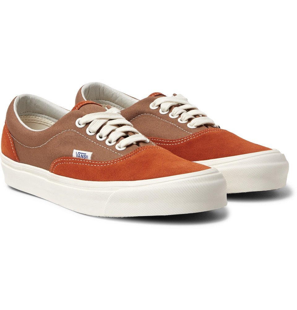Photo: Vans - UA OG Era LX Canvas and Suede Sneakers - Light brown