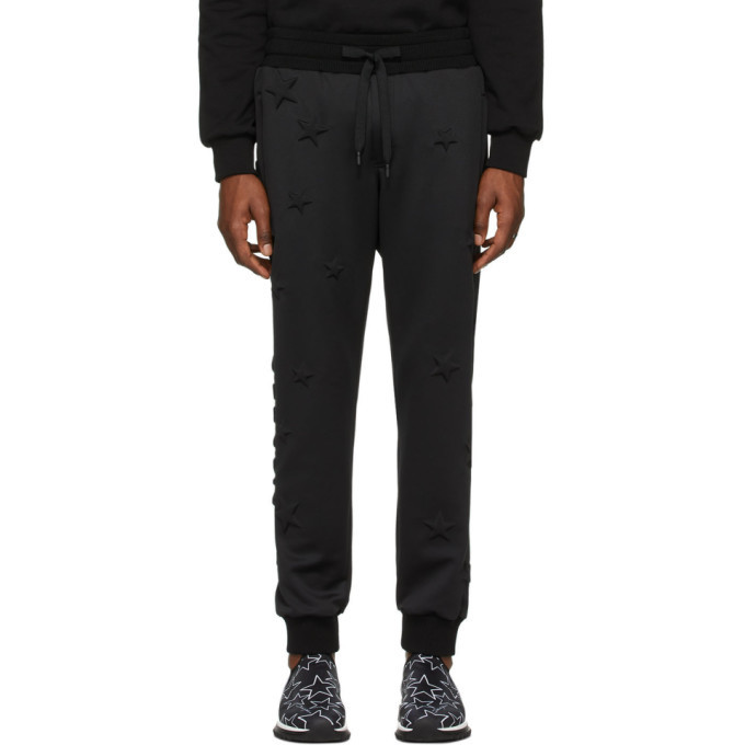 Photo: Dolce and Gabbana Black Bonded Millennial Star Sweatpants
