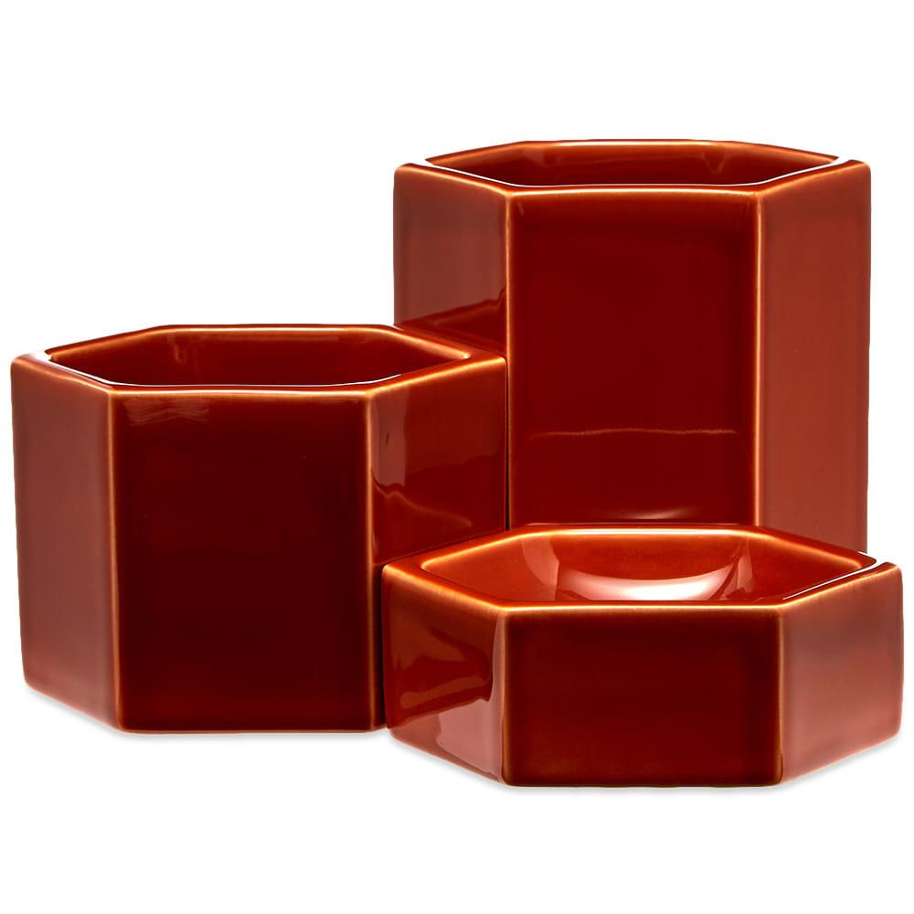 Photo: Vitra Jasper Morrison 2019 Hexagonal Containers - Pack of 3