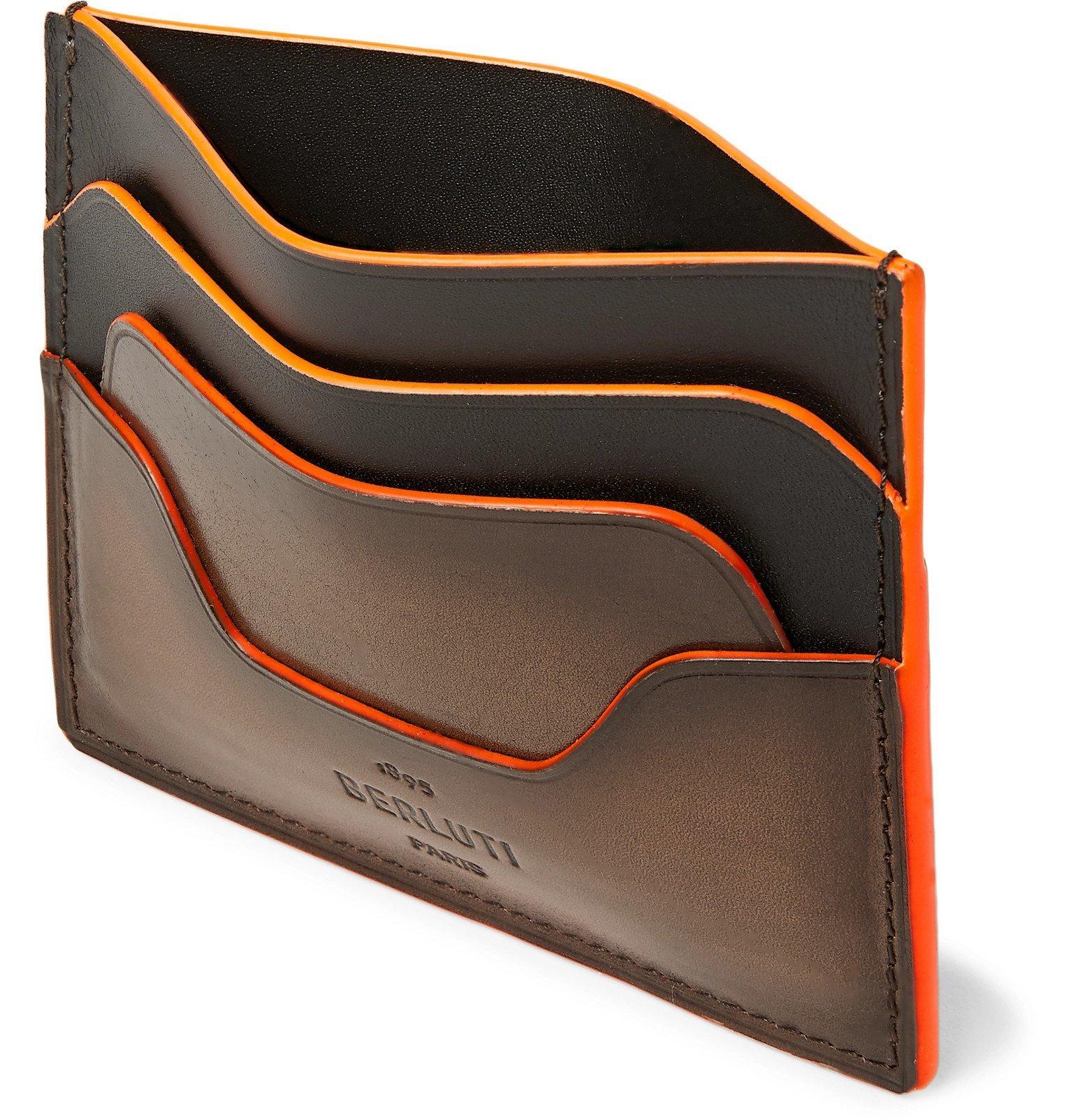 Photo: Berluti - Scritto Venezia Leather Cardholder - Brown