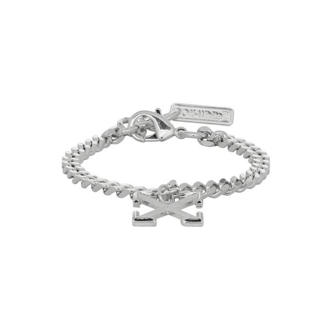 Photo: Off-White SSENSE Exclusive Silver Arrow Bracelet