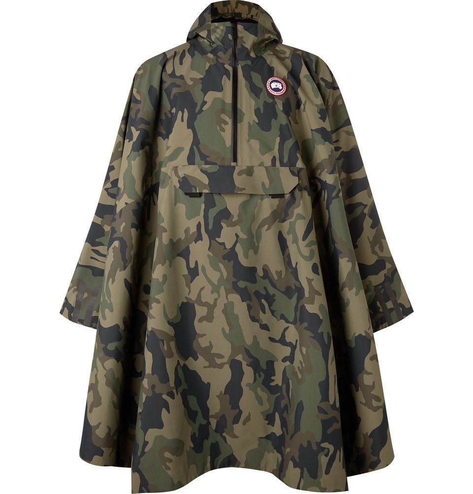 Photo: Canada Goose - Field Camouflage-Print Shell Poncho - Green