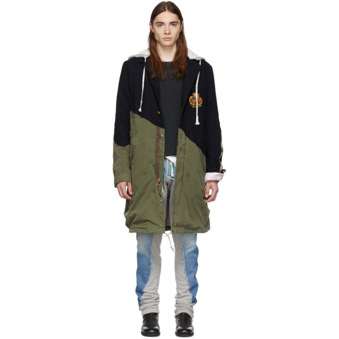 Photo: Greg Lauren Navy 50/50 Prep Army Fishtail Parka