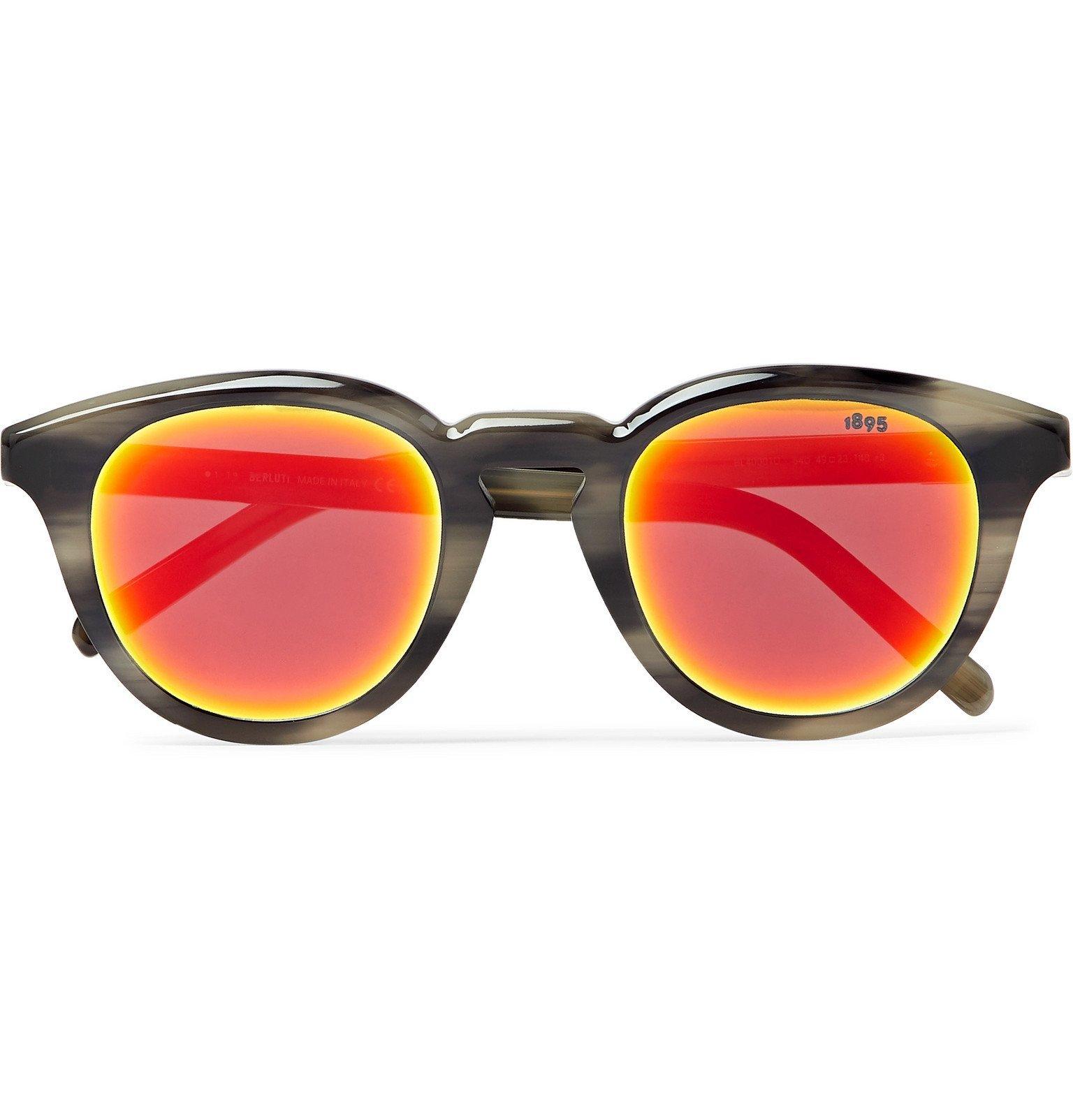 Photo: Berluti - Round-Frame Tortoiseshell Acetate Sunglasses - Gray