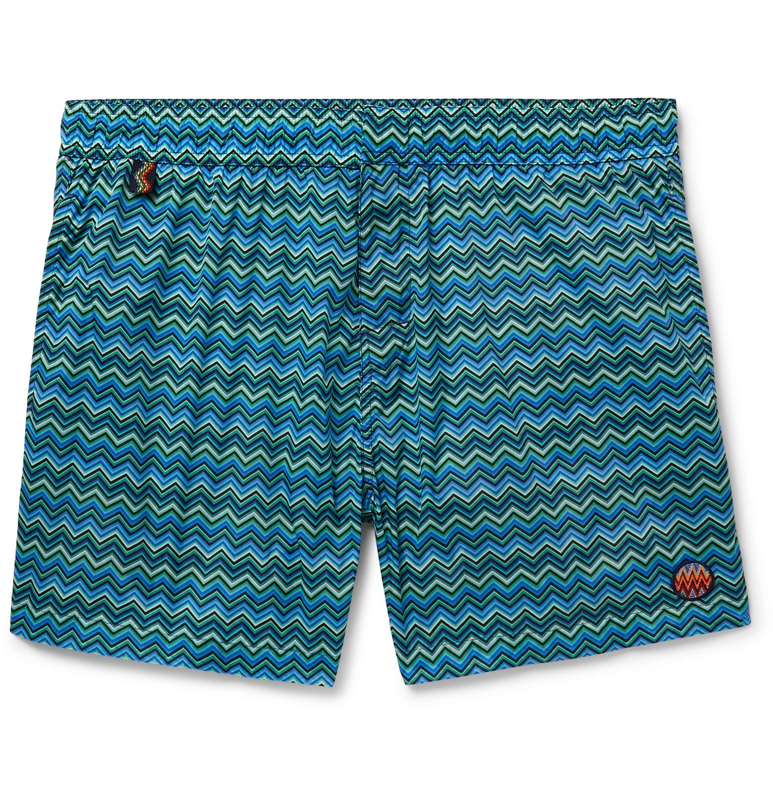Photo: Missoni - Short-Length Printed Swim Shorts - Blue