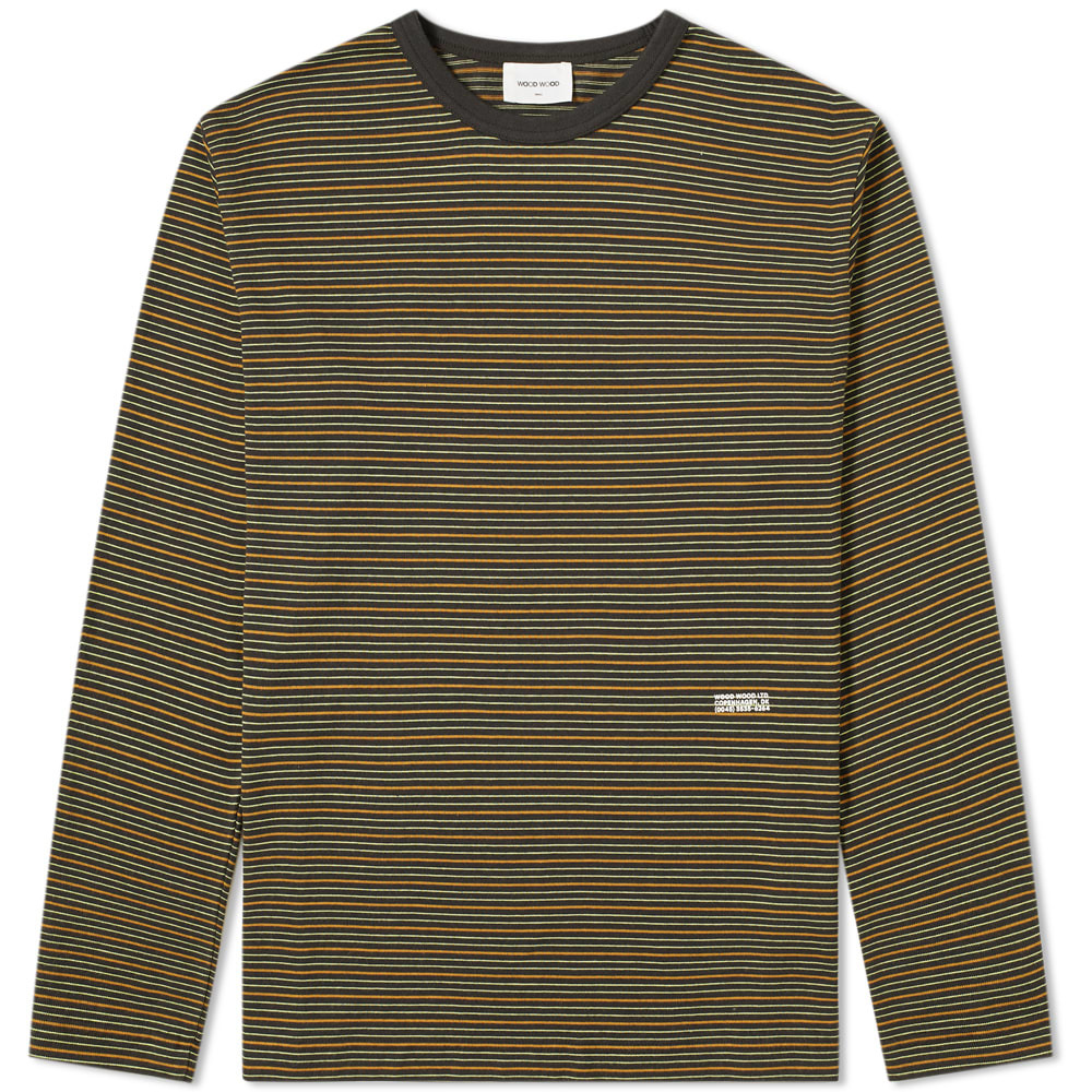 Wood Wood Long Sleeve Viggo Stripe Tee