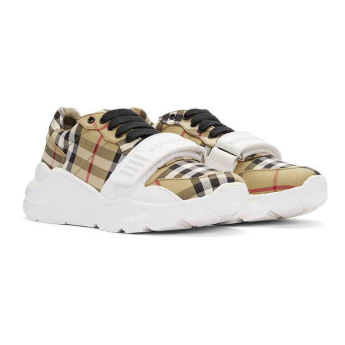 Burberry Yellow Nova Check Regis Low Sneaker