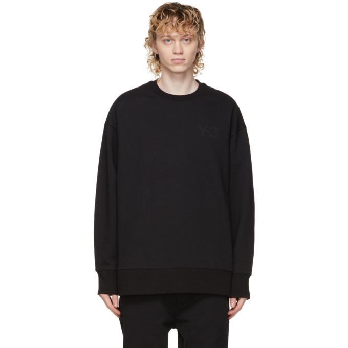 Photo: Y-3 Black Classic Logo Sweatshirt