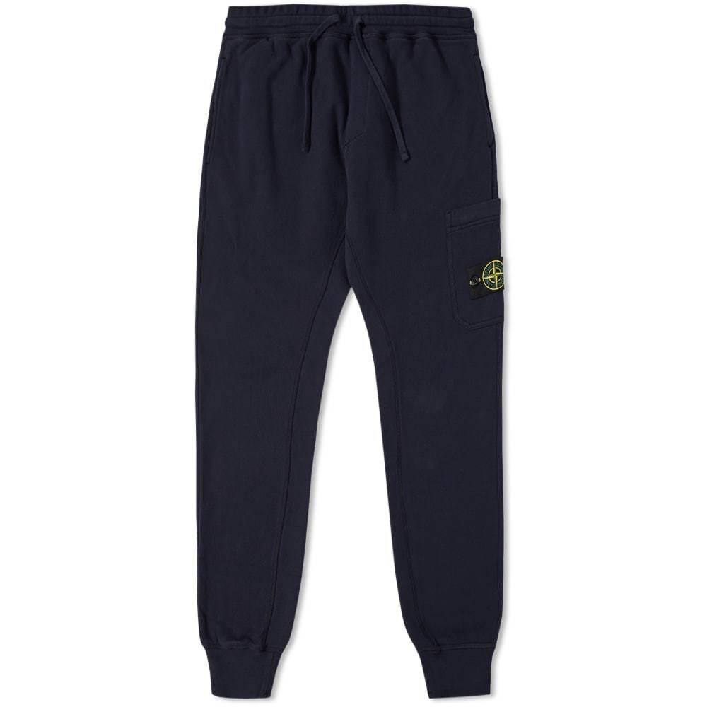 Photo: Stone Island Garment Dyed Slim Sweat Pant Navy