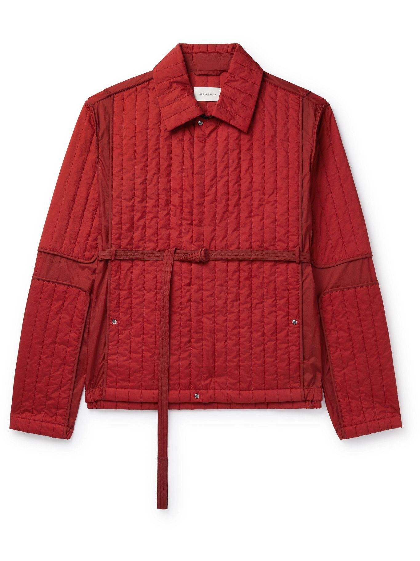 Photo: CRAIG GREEN - Belted Quilted Nylon Jacket - Red