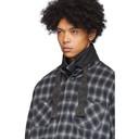 Sacai Black and Grey Ombre Check Shirt