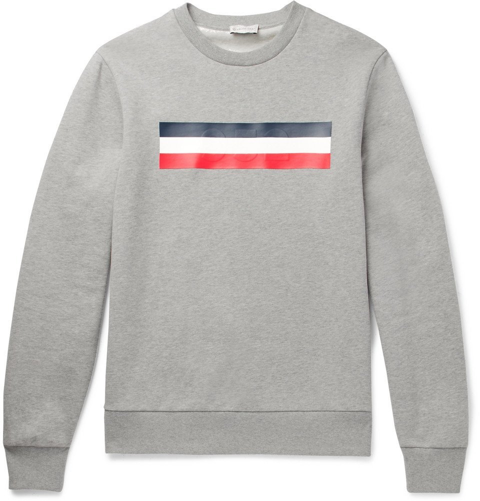 Photo: Moncler - Mélange Fleece-Back Cotton-Jersey Sweatshirt - Men - Gray