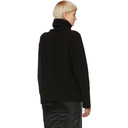 Sacai Black and Navy Knit and French Terry Turtleneck