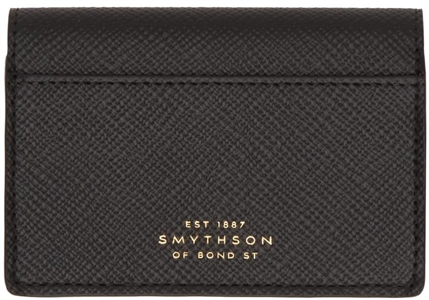 Photo: Smythson Black Panama Foldover Card Holder