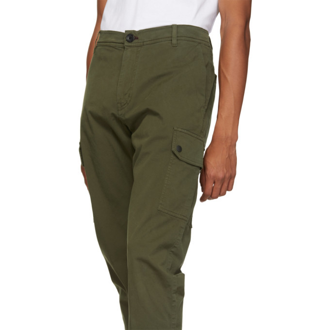 PS by Paul Smith Green Military Cargo Pants