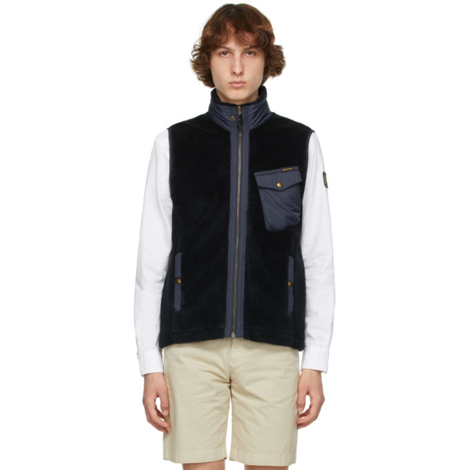 Photo: Belstaff Reversible Navy Holt Vest