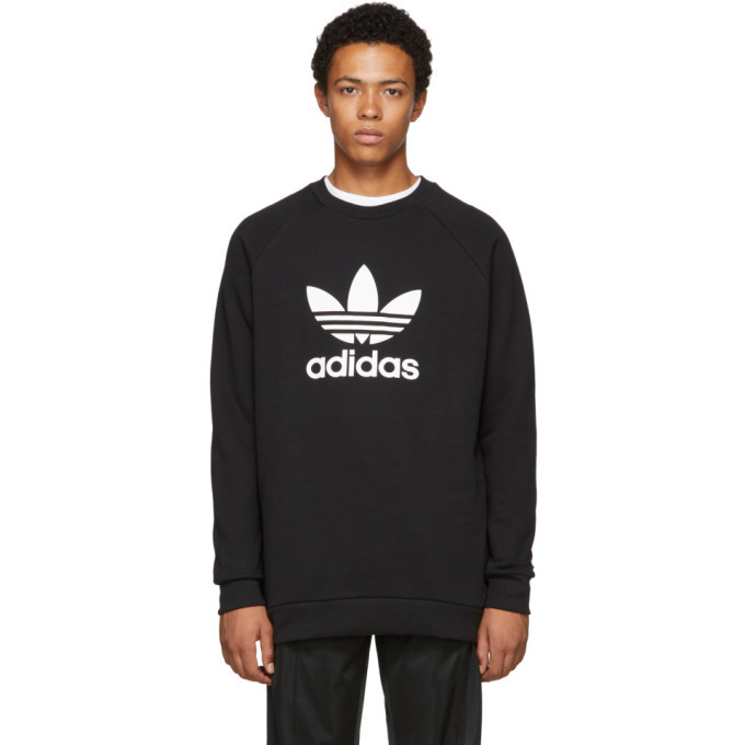 Photo: adidas Originals Black Trefoil Warm-Up Sweatshirt