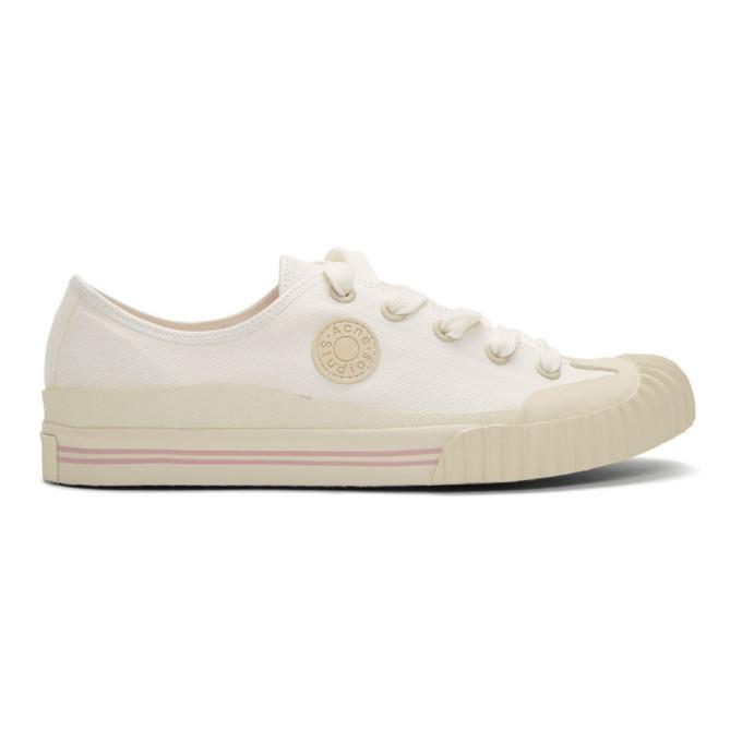 Photo: Acne Studios White Bla Konst Tennis Sneakers