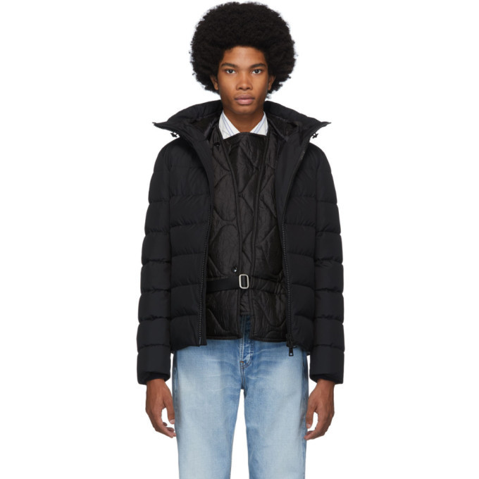 Photo: Herno Black Short Channelled Zip Parka
