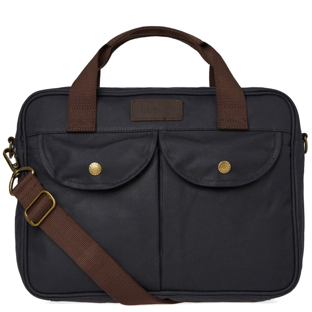 Photo: Barbour Wax Longthorpe Laptop Bag