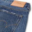 EDWIN - Slim-Fit Tapered Distressed Selvedge Denim Jeans - Blue
