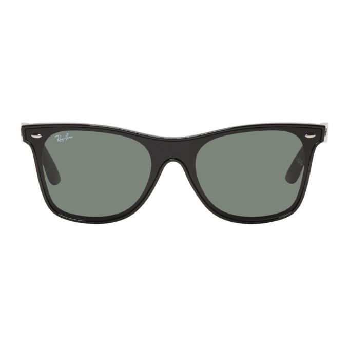 Photo: Ray-Ban Black and Green Blaze Wayfarer Sunglasses