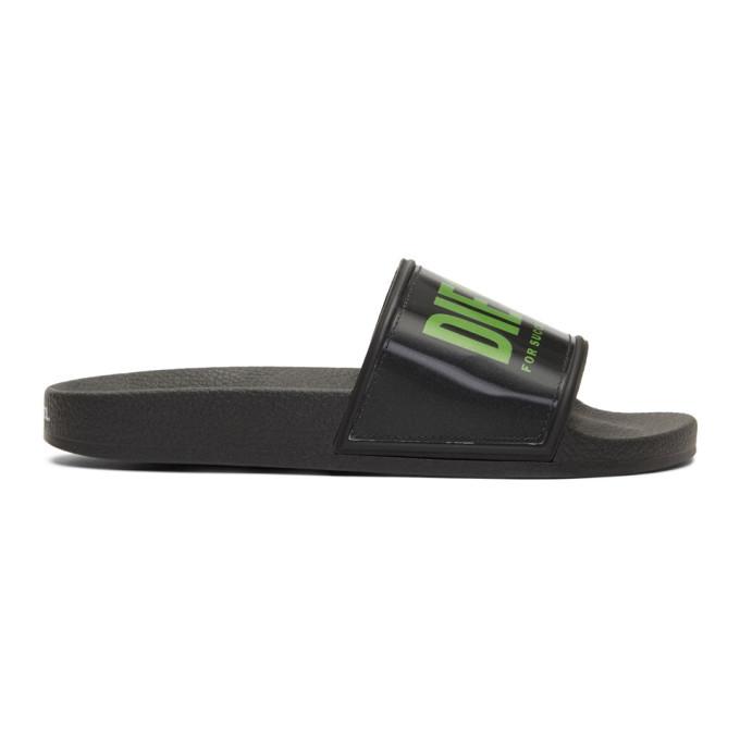 Photo: Diesel Black and Green Sa-Valla Slides