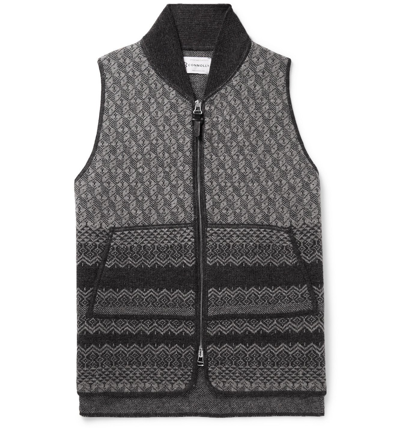 Photo: Connolly - Fair Isle Wool Gilet - Gray