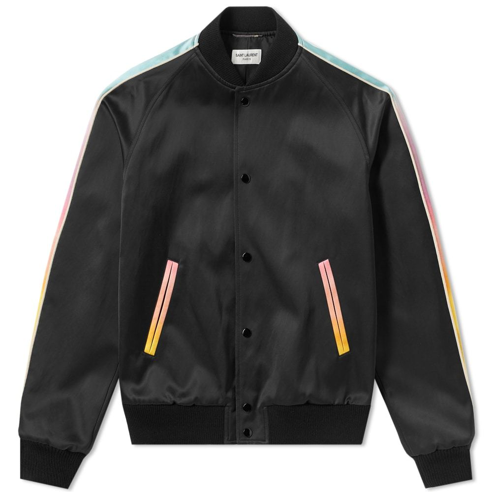 Photo: Saint Laurent Tie Dye Teddy Jacket Black