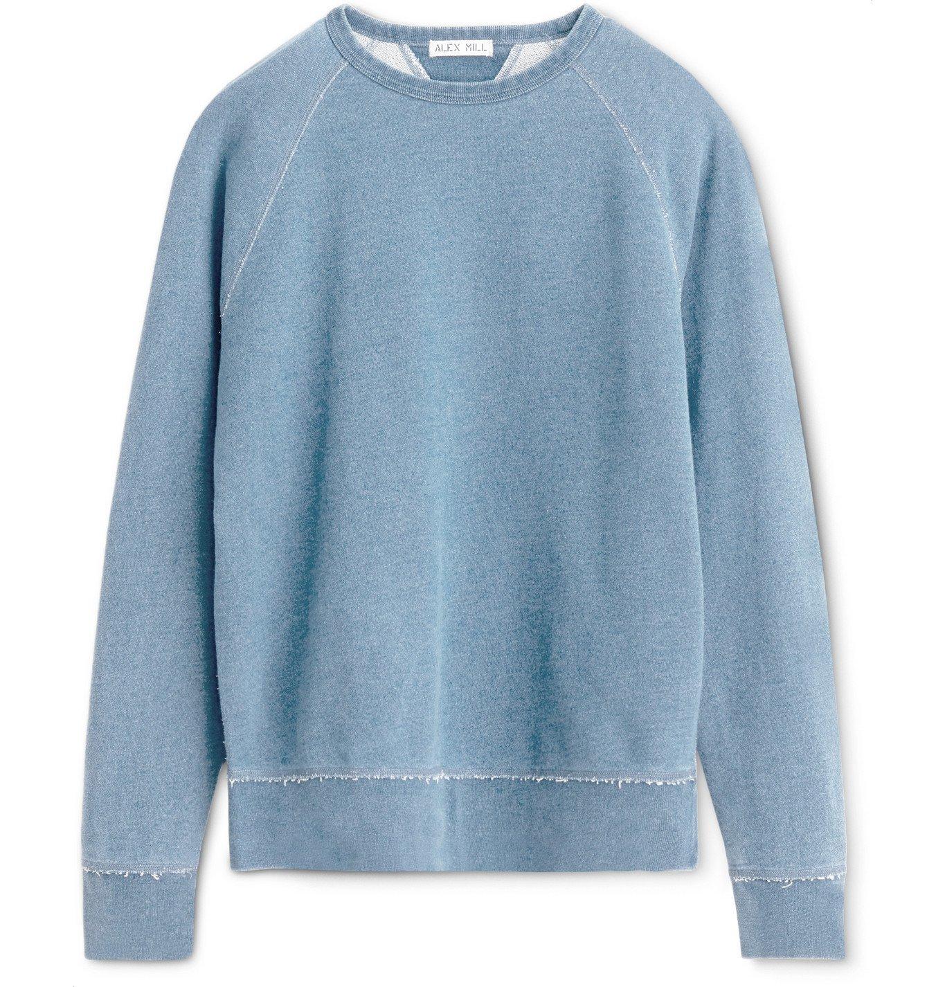 Photo: Alex Mill - Indigo-Dyed Loopback Cotton-Jersey Sweatshirt - Blue