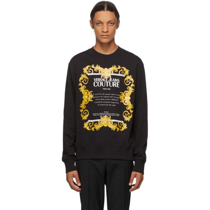 Photo: Versace Jeans Couture Black Etichetta Crewneck Sweatshirt