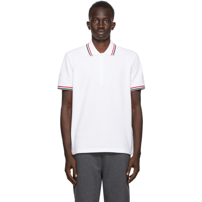 Photo: Thom Browne SSENSE Exclusive White Pique Classic Polo