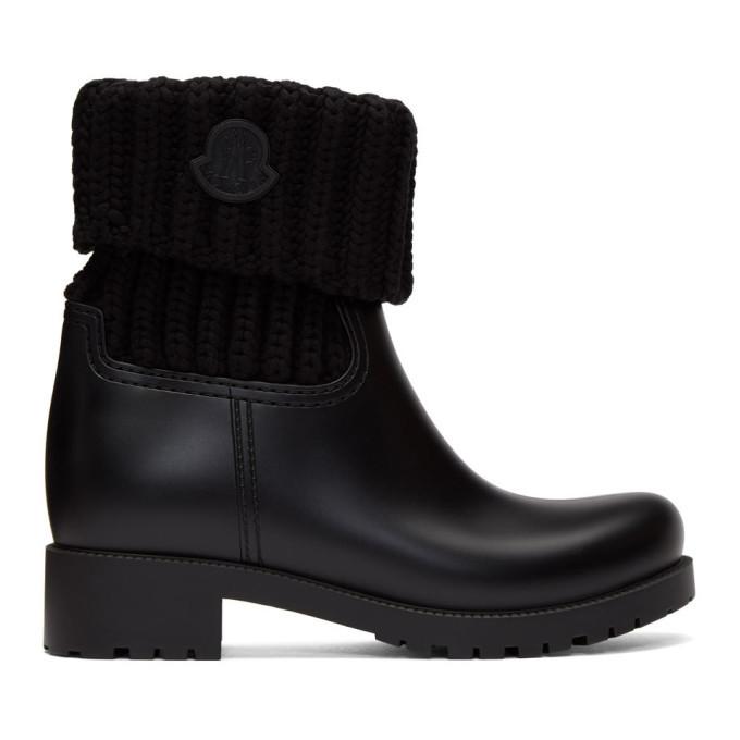 Photo: Moncler Black Knit Ginette Boots