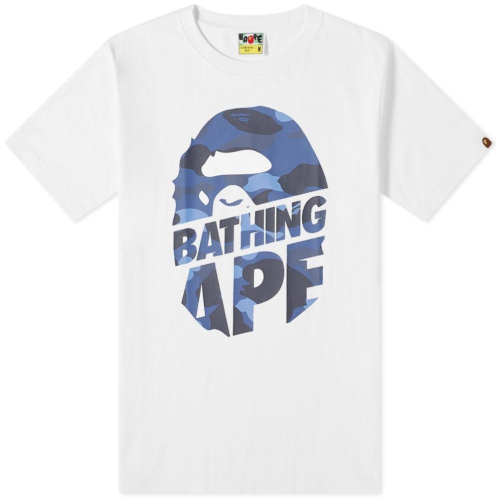 Photo: A Bathing Ape Colour Camo Peek Ape Head Tee