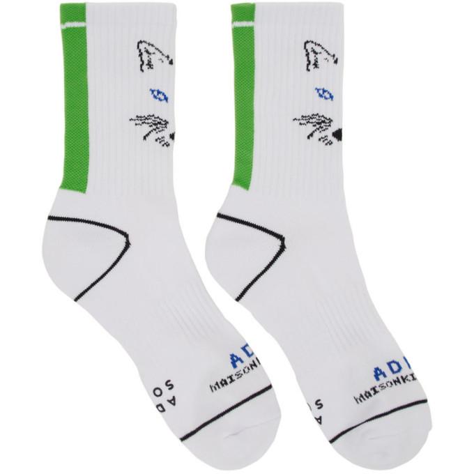 Photo: Maison Kitsune White ADER Error Edition Fox Socks