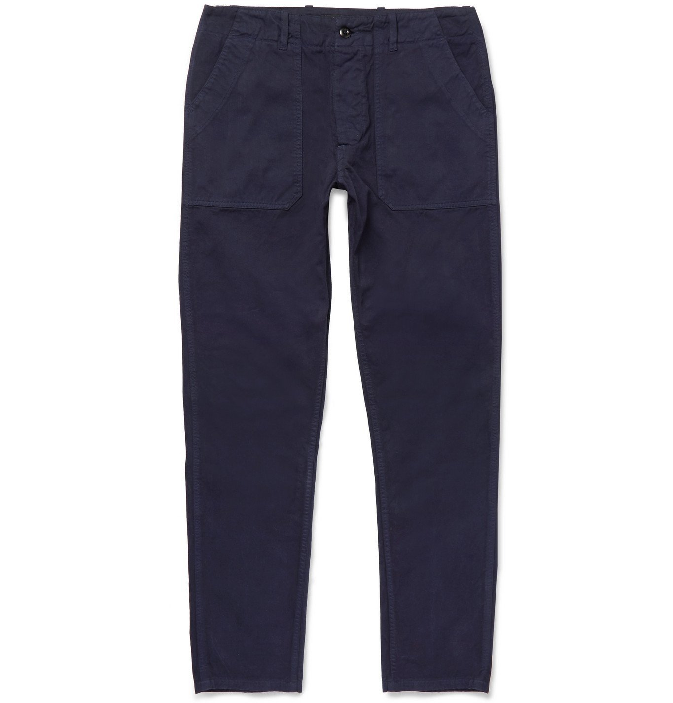 Photo: The Workers Club - Slim-Fit Garment-Dyed Cotton-Twill Chinos - Blue
