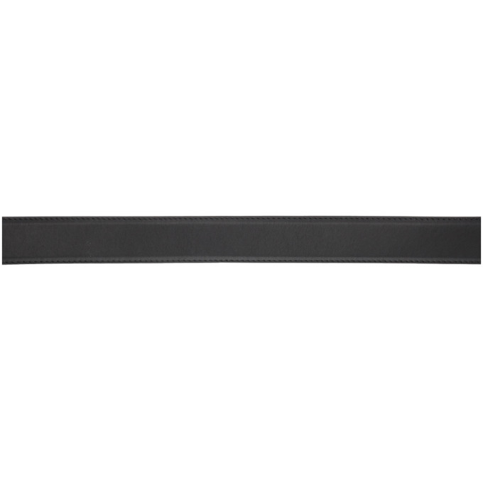 Palm Angels Black and Silver Logo Belt