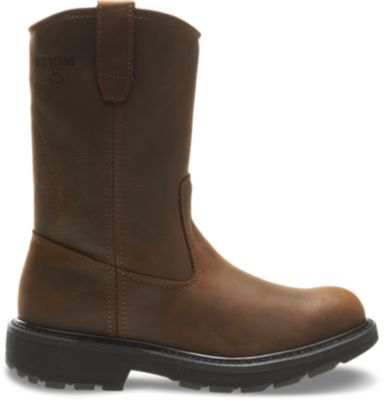 "Photo: Slip Resistant 10"" Wellington Work Boot"
