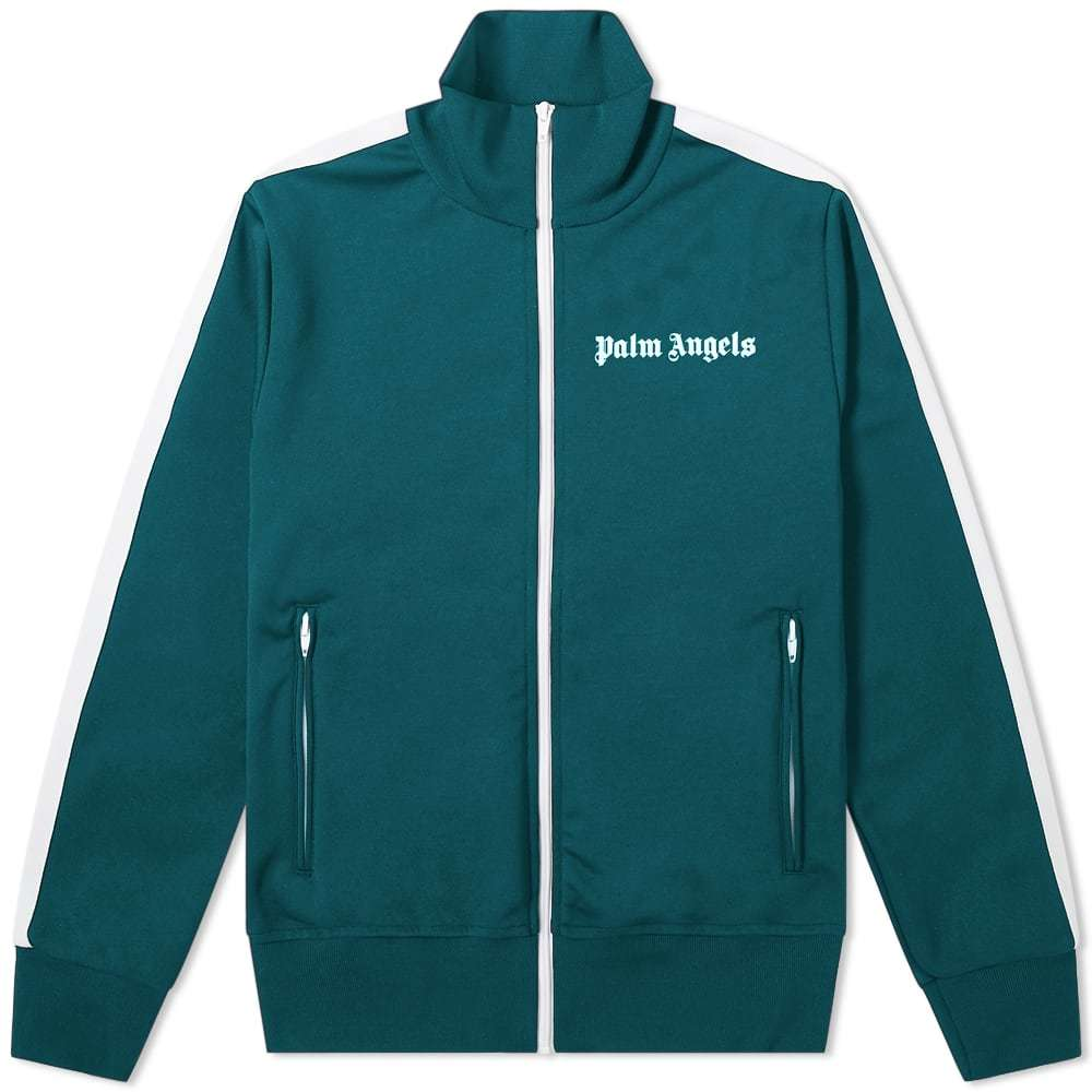 Photo: Palm Angels Classic Zip Track Jacket Green
